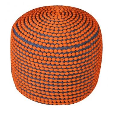 Roccoco poef Oranje